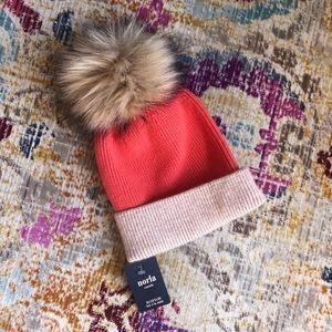 Anthropologie Norla Canada Fur Pom Beanie
